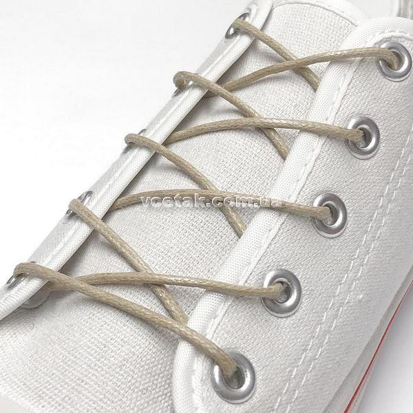 шнурки бежевые