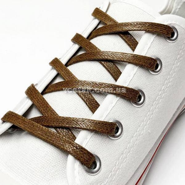 купить коричневые шнурки