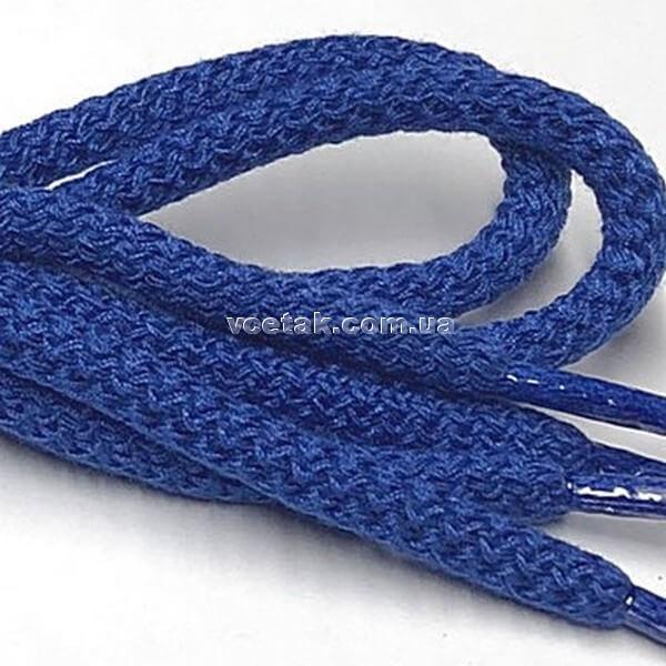 Шнурки голубые простые круглые 5 мм фото