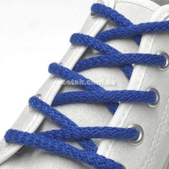 голубые шнурки