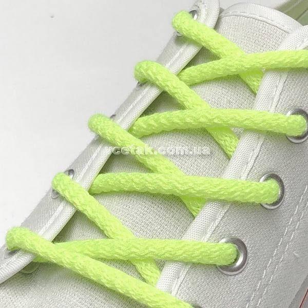 салатовые шнурки
