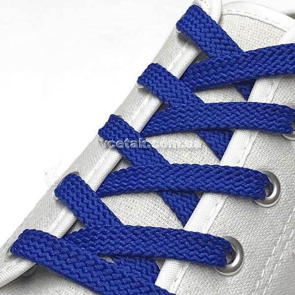 шнурки синие